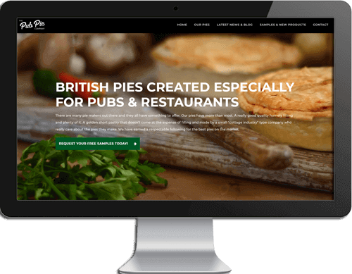 Pub Pie website designers Hertfordshire