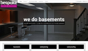 Bespoke Building Services - Basement Underpinning and Waterproofing
